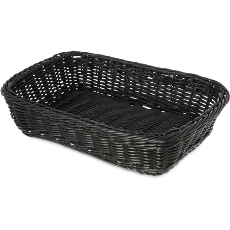 "655203 - Woven Baskets Rectangular Basket 11.5"" - Black"