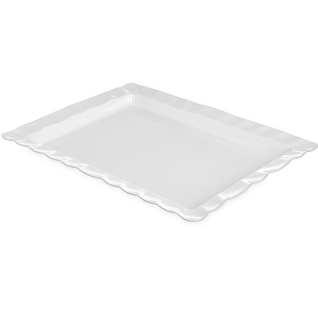 794802 - Displayware™ Rectangular Large Scalloped Tray 24.5 x 18.5 - White