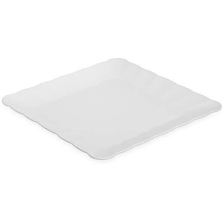 "792402 - Displayware™ Square Small Scalloped Tray 14.5""SQR - White"
