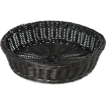 "655503 - Round Basket/Tray 11"" X 2-3/4"" - Black"