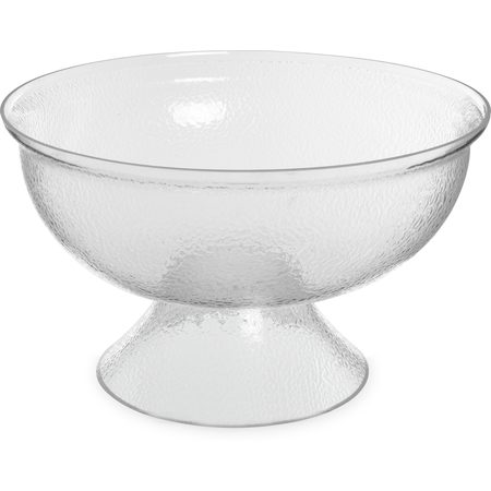 "SP1807 - Pebbled Punch Bowl 576 oz, 17-3/4"" - Clear"