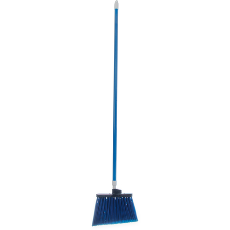 "4108214 - Sparta® Spectrum® Duo-Sweep® Angle Broom Flagged Bristle 56"" Long - Blue"