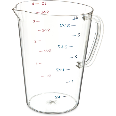 4314507 - Commercial  Measuring Cup 1 gal - Clear