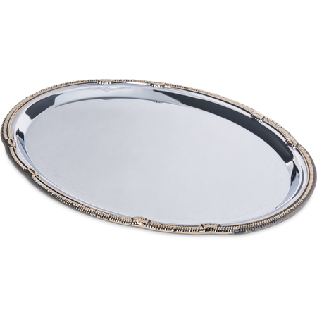 "608913 - Celebration™ Oval Tray w/Gold Border 17-3/4"" x 12-7/8"""