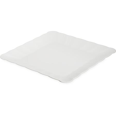 "792602 - Displayware™ Square Medium Scalloped Tray 17""SQR - White"