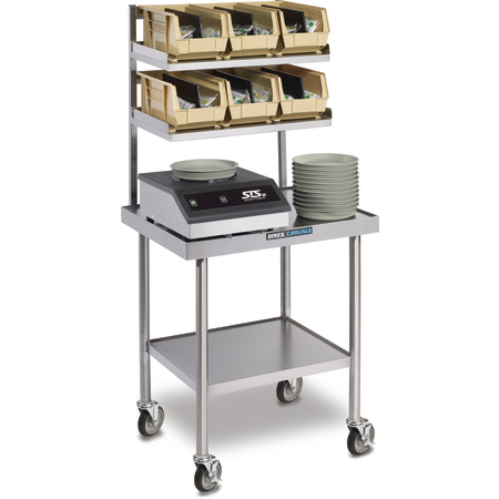 """DXICTABLEMSS - Mobile Mini Starter Station with Casters 30"""" x 24"""" - Stainless Steel"""