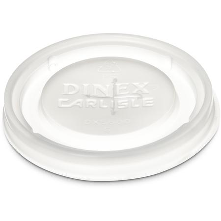 DX5600ST8714 - Dinex® Translucent Lid w/ Straw Slot (Fits  DXFT607) (1000/cs) - Clear