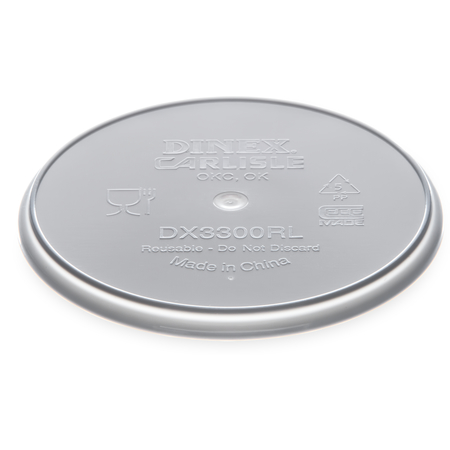 DX3300RL - Turnbury® Reusable Lid for Turnbury Soup Bowl (250/cs) - Gray