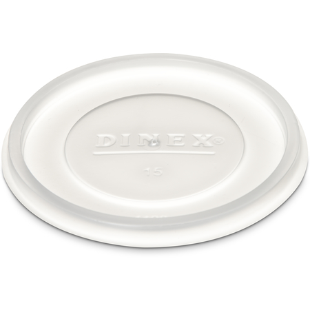 DX11988714 - Disposable Lid - Fits Specific 9.5 - 12 oz Dinex, Carlisle, Cambro and G.E.T. Enterprises Tumblers (1000/cs) - Translucent