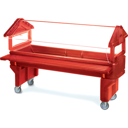 660805 - Six Star™ Youth Portable with Legs only 6' x 2' x 3.8' - Red