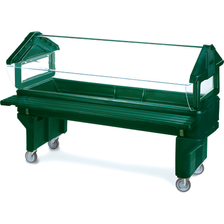 660808 - Six Star™ Youth Portable with Legs only 6' x 2' x 3.8' - Forest Green