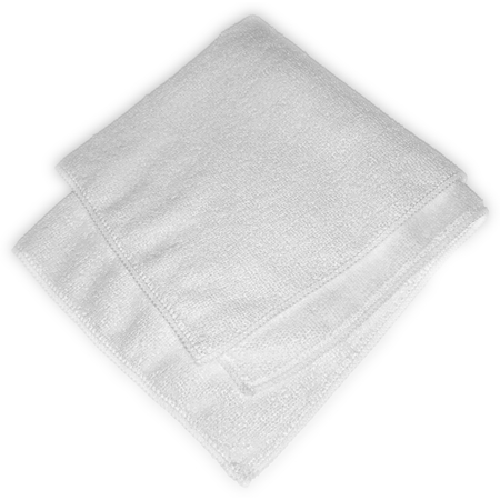 """3633402 - Terry Microfiber Cleaning Cloth 16"""" x 16"""" - White"""