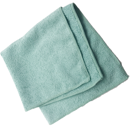 """3633409 - Terry Microfiber Cleaning Cloth 16"""" x 16"""" - Green"""