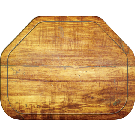 "1713WFG094 - Glasteel™ Wood Grain Trapezoid Tray 18"" x 14"" - Redwood"
