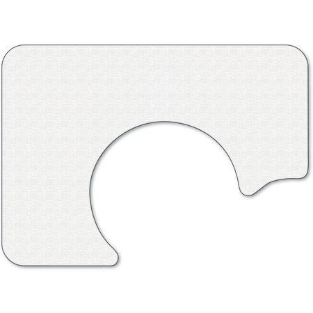 "DX5999S00102 - White Embossed Tray Cover Size: S w/ Straight Edge/Round Corner 12-1/4"" x 17"" (2000/cs)"