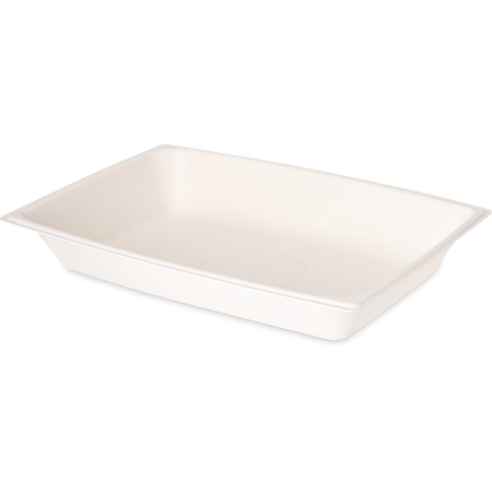 DXHH8 - Rectangular Entree (one Compartment) 12 oz. (1000/cs) - White