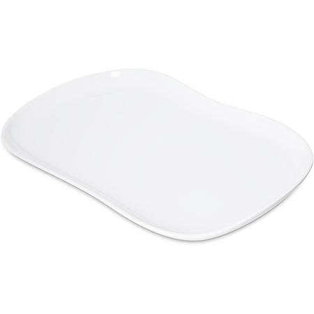 """5300902 - Stadia Melamine Platter 13"""" x 7"""" - White"""