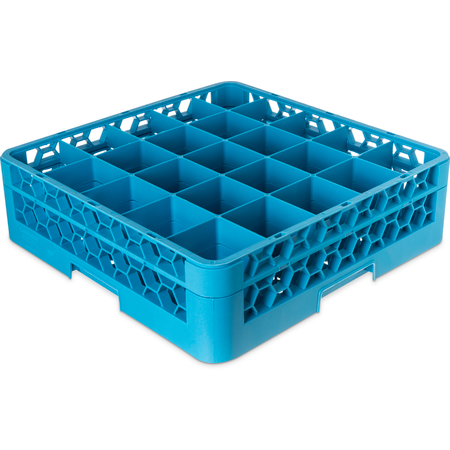 "RG25-114 - OptiClean™ 25-Compartment Divided Glass Rack with 1 Extender 5.56"" - Carlisle Blue"