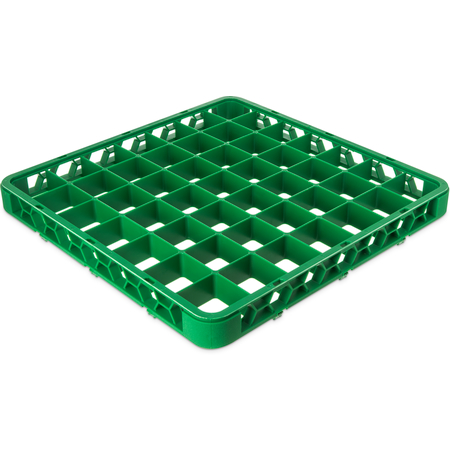 """RE49C09 - OptiClean™ 49-Compartment Divided Glass Rack Extender 1.78"""" - Green"""