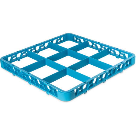 "RE914 - OptiClean™ 9-Compartment Divided Glass Rack Extender 1.78"" - Carlisle Blue"