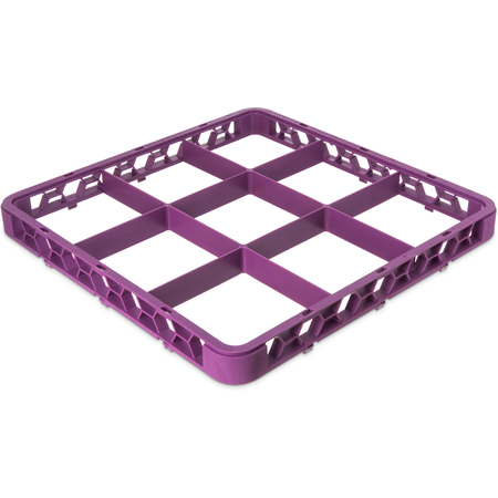 """RE9C89 - OptiClean™ 9-Compartment Divided Glass Rack Extender 1.78"""" - Lavender"""