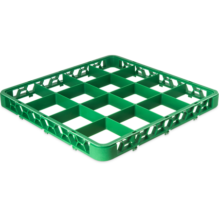 "RE16C09 - OptiClean™ 16-Compartment Divided Glass Rack Extender 1.78"" - Green"