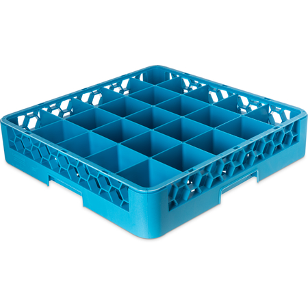 RG2514 - OptiClean™ 25-Compartment Divided Glass Rack 3.25 - Carlisle Blue
