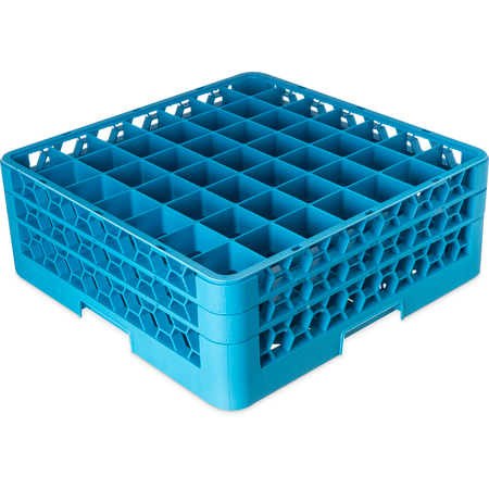 "RG49-214 - OptiClean™ 49-Compartment Divided Glass Rack with 2 Extenders 7.12"" - Carlisle Blue"