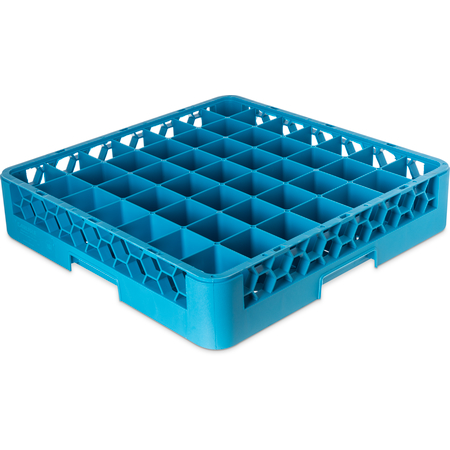 RG4914 - OptiClean™ 49-Compartment Divided Glass Rack 3.25 - Carlisle Blue