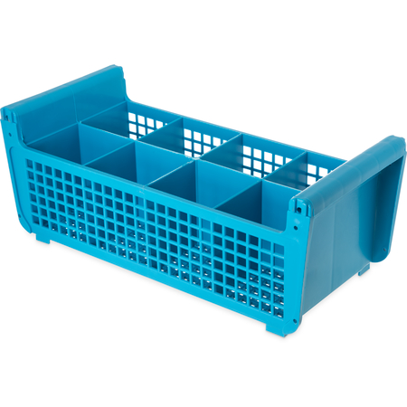 "C32P114 - Perma-Sil™ 8-Compartment Flatware Storage Basket 17"" x 7.75"" x 6.9"" - Carlisle Blue"