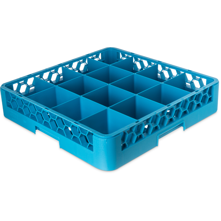 RC1614 - OptiClean™ 16-Compartment Divided Tilted Glass Rack 16 Compartment - Carlisle Blue