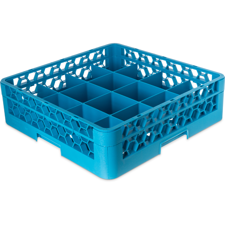 RC16-114 - OptiClean™ Tilted Cup Rack with One Open Extender 16 Compartment - Carlisle Blue