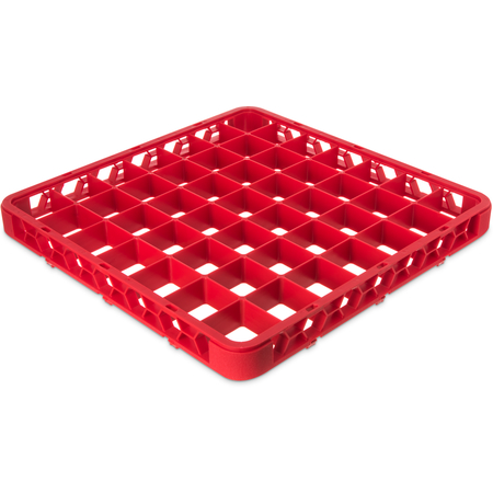 """RE49C05 - OptiClean™ 49-Compartment Divided Glass Rack Extender 1.78"""" - Red"""