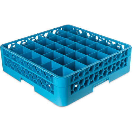 """RG36-114 - OptiClean™ 36 Compartment Glass Rack with 1 Extender 5.56"""" - Carlisle Blue"""
