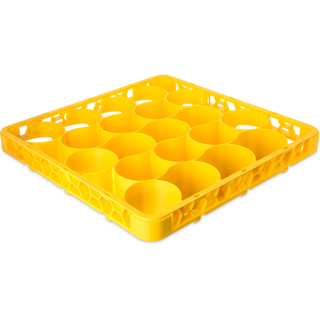 REW20LC04 - OptiClean™ NeWave™ Color-Coded Long Glass Rack Extender 20 Compartment - Yellow