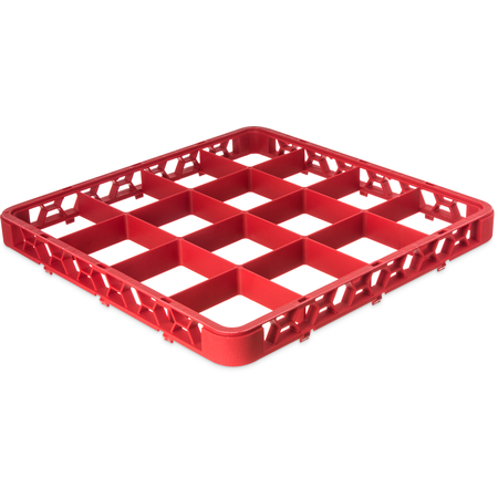 "RE16C05 - OptiClean™ 16 Compartment Divided Glass Rack Extender 1.78"" - Red"