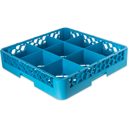 RG914 - OptiClean™ 9-Compartment Divided Glass Rack 3.25 - Carlisle Blue