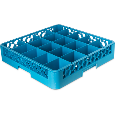 RC2014 - OptiClean™ 20-Compartment Divided Tilted Glass Rack 20 Compartment - Carlisle Blue