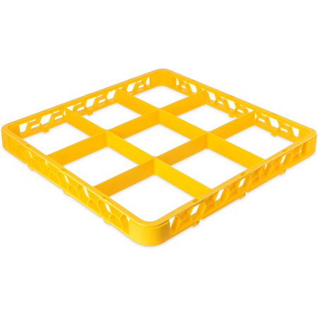 "RE9C04 - OptiClean™ 9-Compartment Divided Glass Rack Extender 1.78"" - Yellow"