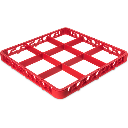 "RE9C05 - OptiClean™ 9-Compartment Divided Glass Rack Extender 1.78"" - Red"
