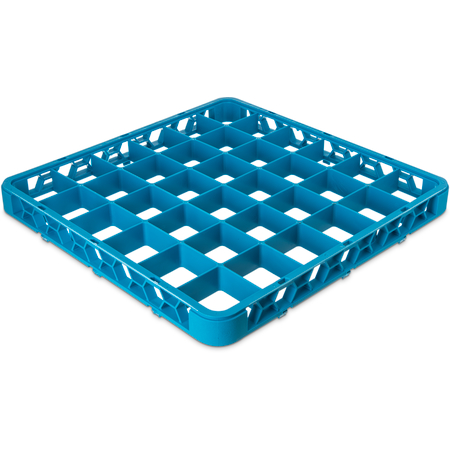 "RE3614 - OptiClean™ 36-Compartment Divided Glass Rack Extender 1.78"" - Carlisle Blue"