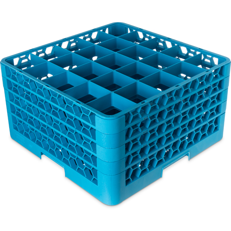 "RG25-414 - OptiClean™ 25-Compartment Divided Glass Rack with 4 Extenders 10.3"" - Carlisle Blue"
