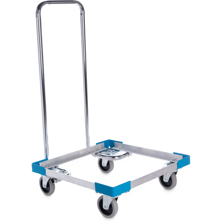 "C2222A14 - E-Z Glide™ Open Aluminum Dolly With  Handle 20.63"" x 20.63"" x 36.5"" - Carlisle Blue"