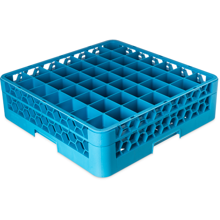 "RG49-114 - OptiClean™ 49-Compartment Divided Glass Rack with 1 Extender 5.56"" - Carlisle Blue"
