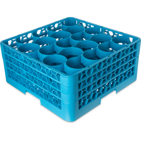 RW20-214 - OptiClean™ NeWave™ Glass Rack with 3 Integrated Extenders 20 Compartment - Carlisle Blue
