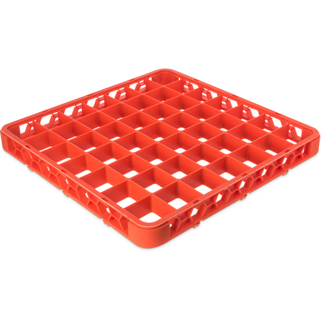 """RE49C24 - OptiClean™ 49-Compartment Divided Glass Rack Extender 1.78"""" - Orange"""