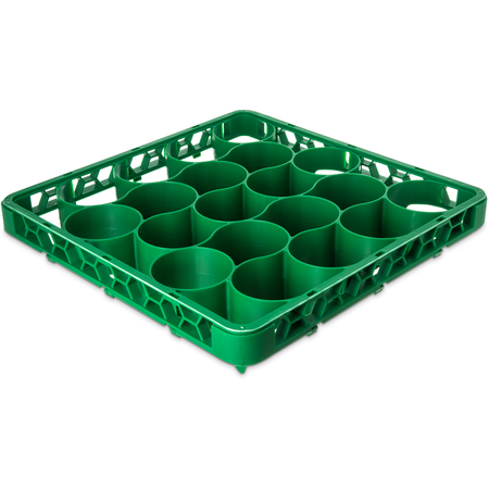 REW20LC09 - OptiClean™ NeWave™ Color-Coded Long Glass Rack Extender 20 Compartment - Green