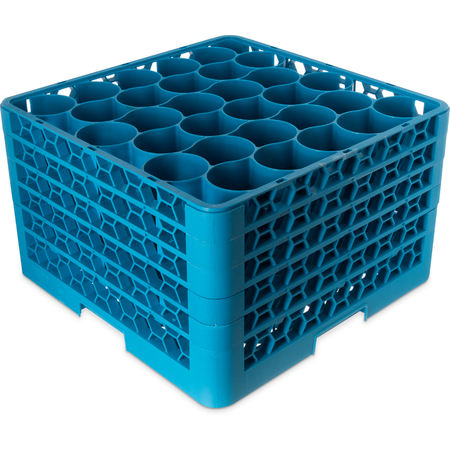 RW30-314 - OptiClean™ NeWave™ Glass Rack with 4 Integrated Extenders 30 Compartment - Carlisle Blue