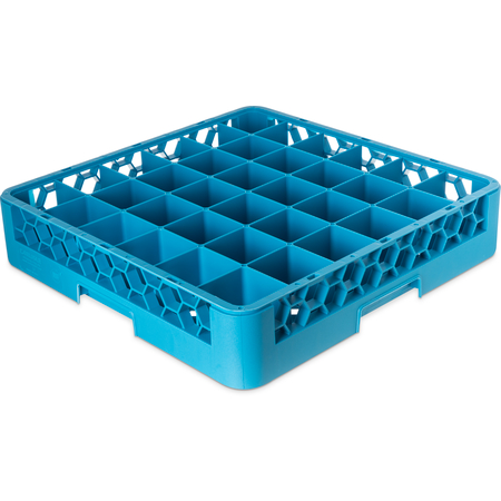 RG3614 - OptiClean™ 36-Compartment Divided Glass Rack 3.25 - Carlisle Blue