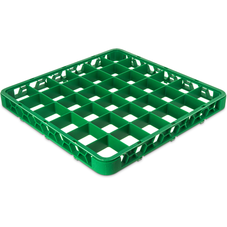 "RE36C09 - OptiClean™ 36 Compartment Divided Glass Rack Extender 1.78"" - Green"